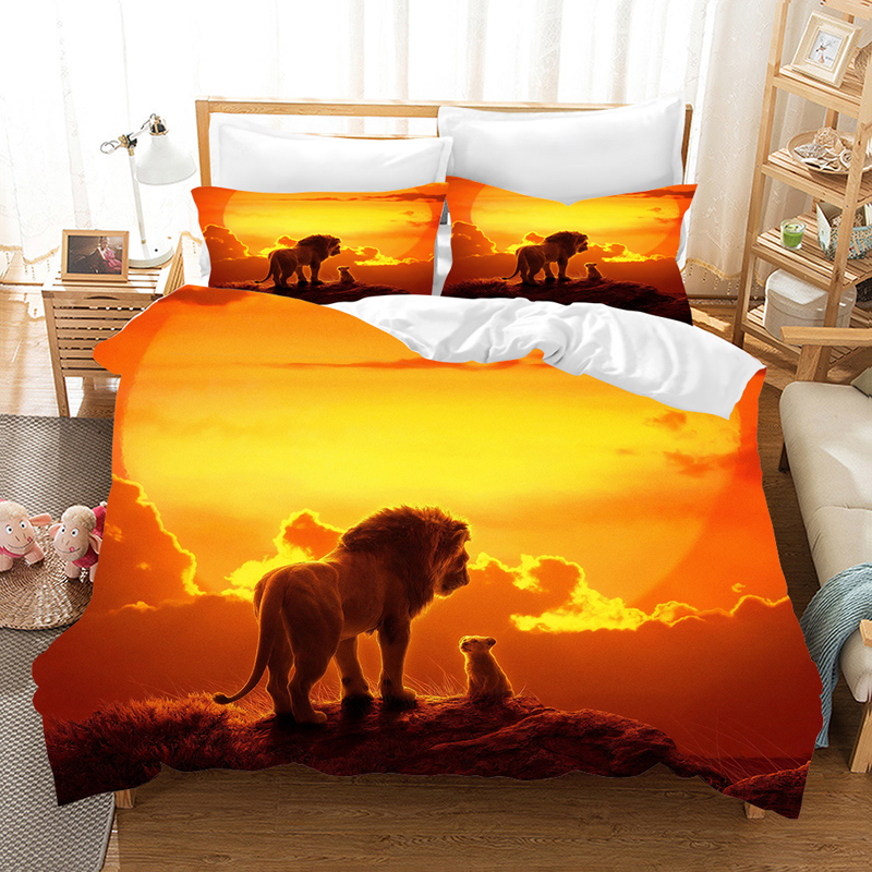 The Lion King 3d Bedding Set Duvet Covers Pillowcases Lion Simba Children Room Decor Comforter Bedding Sets Bedclothes Bed Linen