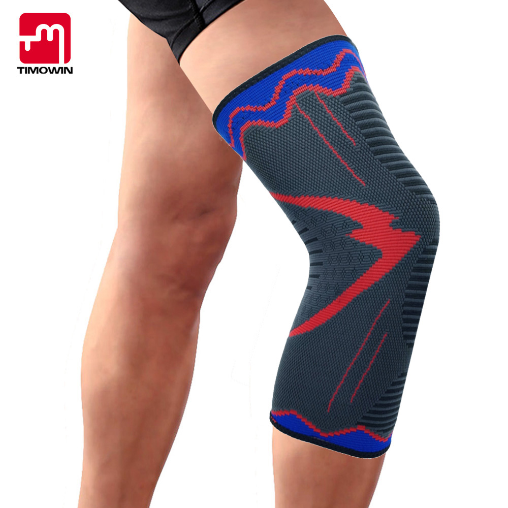 TIMOWIN 1 PCS Athletics Knee Pads Knee Protector Knee Sleeve for Running,Basketball,Joint Pain Relief,Arthritis Injury Recovery camewin 1 pcs knee brace knee support for running arthritis meniscus tear sports joint pain relief and injury recovery