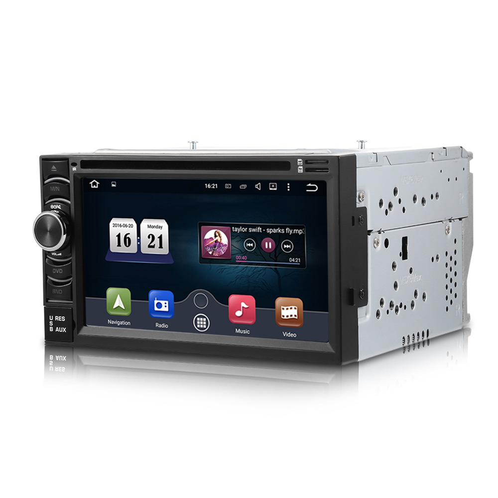 6116G Wince 6.0 Car DVD Player 6.5 inch Touch Screen with Navigation 2 Din