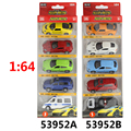 5PCS Alloy car toy model Sliding car random mixed pull back toys Classic toys boy and girl gift 1:64 Pocket car
