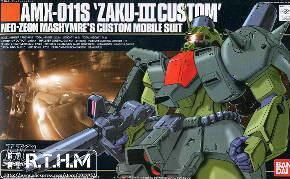 Bandai HGUC 03 AMX-011S Zaku III Custom Assembled model Gundam model kit Scale Model