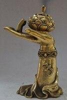 christmas chinese brass Bergamot Buddha hand lotus flower statue incense burner Censer halloween