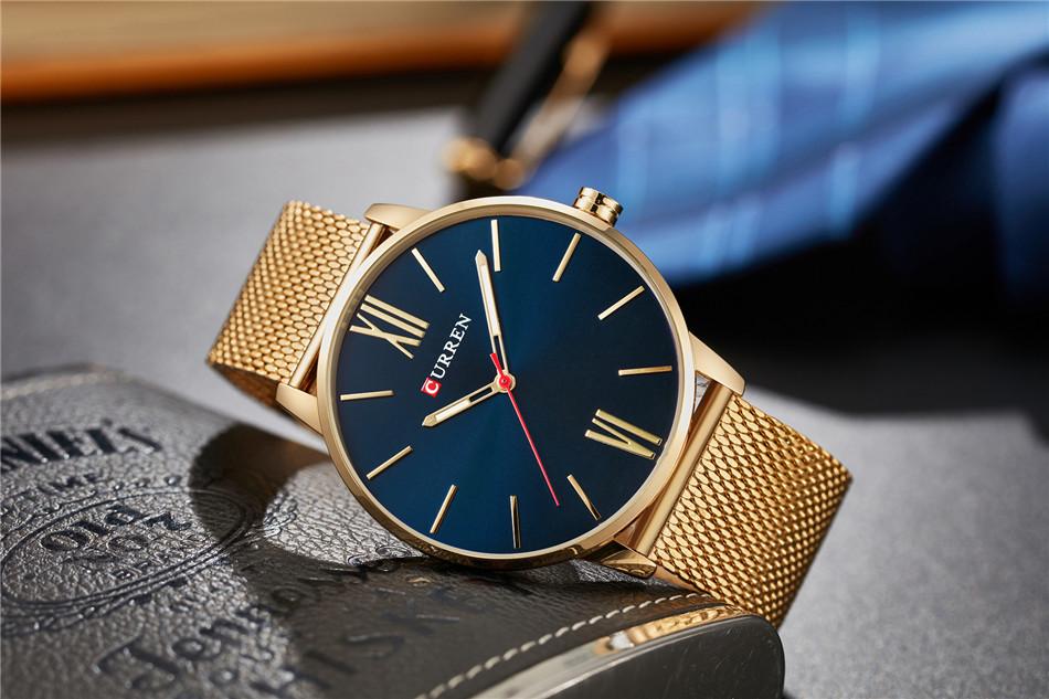 HTB1N2leRpXXXXcvXXXXq6xXFXXXE - CURREN Luxury Stainless Steel Business Watch for Men