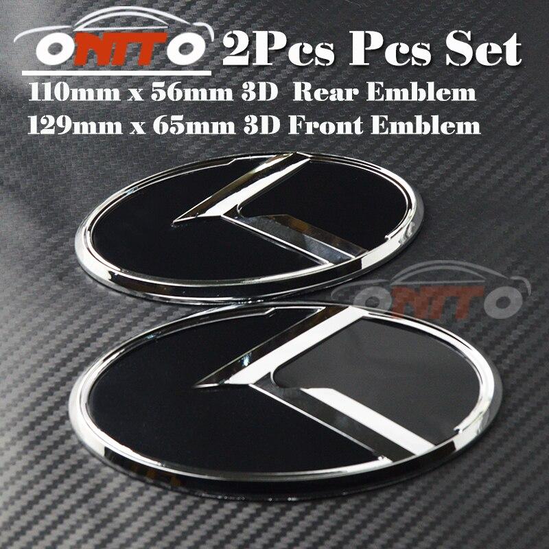 Meilleur Prix 2 pcs Coffre de voiture Emblème 3D autocollant Boot Logo Capot Étiquette Bonnet Couverture pour OPTIMA K2/K3/K4/K5 sorento