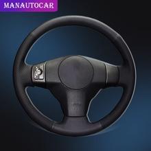 цена на Car Braid On The Steering Wheel Cover for Toyota RAV4 2006-2012 Vios 2008-2013 Yaris 2007-2011 Scion XB 2008 Auto Wheel Covers