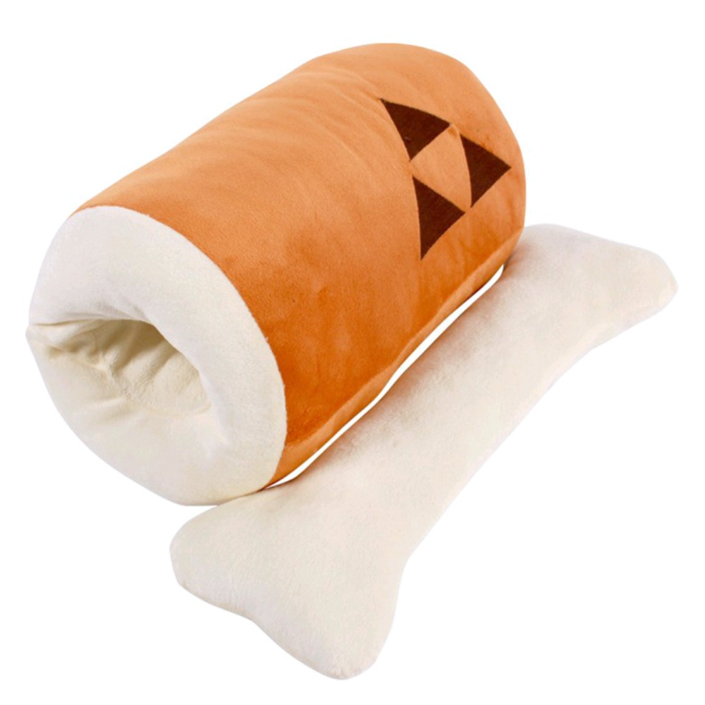 Monster Hunter Huge Grilled Meat Pillow Plush Barbecu with Big Bone Stuffed Toy 45CM Full Sets Cosplay For Costume
