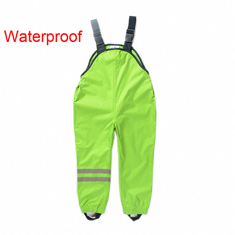 New 2017 Boys Girls Waterproof Overalls Kids 1-7Yrs Children Autumn Sport Pants German Brand Outdoor Suspenders Trousers 520
