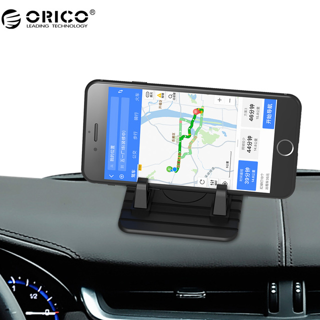 Orico Bms Car Phone Holder Portable Desk Mount Silicone Mobile Stand For Tablets