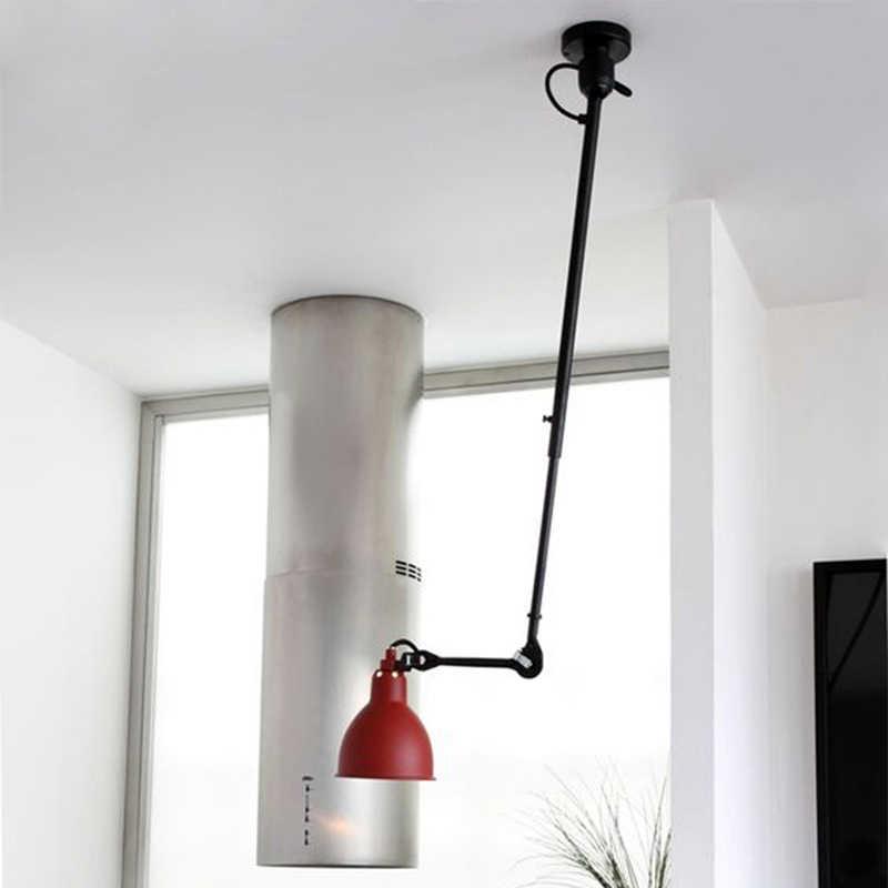 Поворотный Телескопический длинный стержень потолочные светильники промышленного стиля потолочные лампы светодиодные светильники для прикроватной столовой гостиной бар