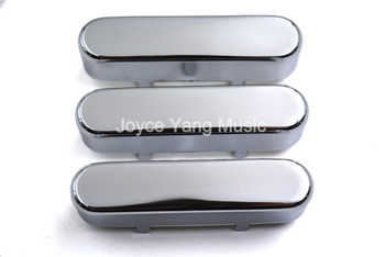 1 Set of 3pcs Niko Sealed Closed Chrome Brass Single Coil Pickup Cover For FD Strat/Tele Style Electric Guitar Free Shipping фото
