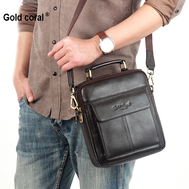 100% Natural bolsas de couro genuíno para homens de alta qualidade a primeira camada pele de vaca messenger bags moda Casual sacos de ombro
