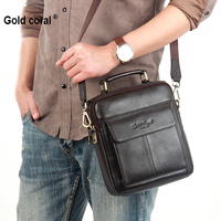 Genuine Leather Handbags For Men Cow Leather Crossbody Bag Small Messenger Bags Fashion Business Shoulder Bags Male Totes 2018