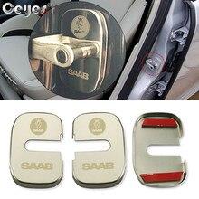 Ceeyes accesorios para cerradura de puerta cubiertas de coche, funda de diseño para Saab 9000 900 428 03 10 9 3 9 5 93 95 2003 2012, pegatinas de protección automática