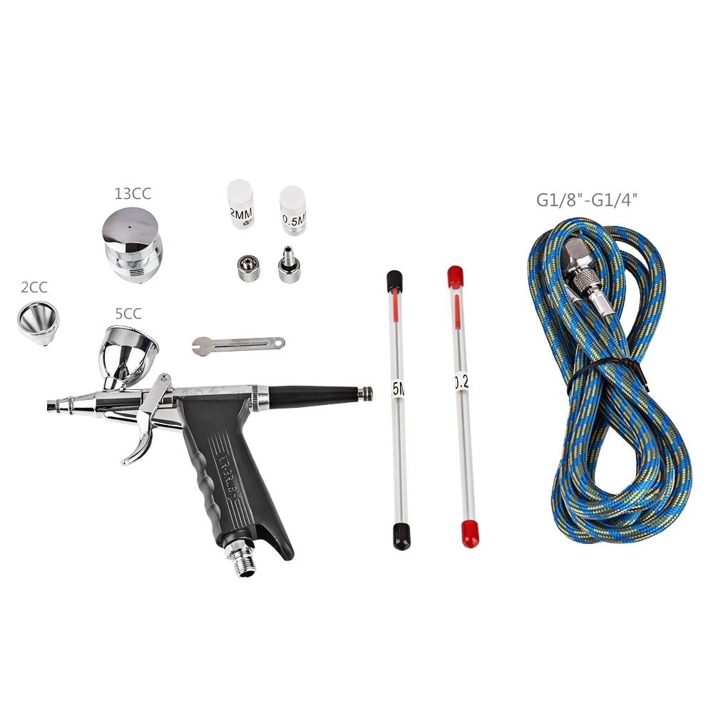 Airbrush Kit 0.2 millimetri/0.3 millimetri/0.5 millimetri Ago Spazzola di Aria Pistola A Spruzzo Colori per il corpo di Trucco Torta Giocattolo Auto decorazione