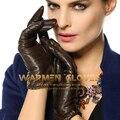 Cachemira de Las Mujeres Forro de Invierno Cálido Guantes de Moda de piel de cordero Napa Flexible Factory Outlet EL001NR