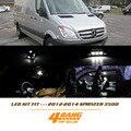 AMG 11 Pcs For 2012-2014 Sprinter 3500 White License plate Map lights Dome lights Interior LED Light Package Kit