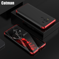 Mate 10 Pro Case Aviation Aluminum Bumper For Huawei Mate 10 Luxury Matte PC Metal Frame