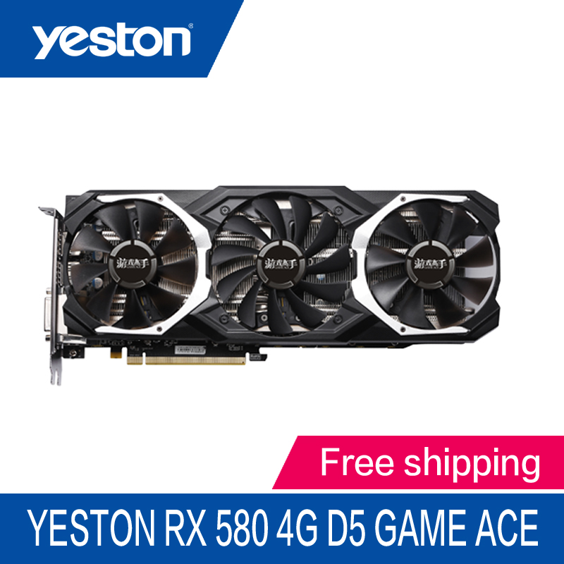 Yeston AMD Radeon RX580 4GB GDDR5 PCI Express x16 3 0 video gaming graphics card external