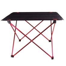 נייד מתקפל שולחן מתקפל שולחן קמפינג חיצוני פיקניק 6061 סגסוגת אלומיניום קל במיוחד