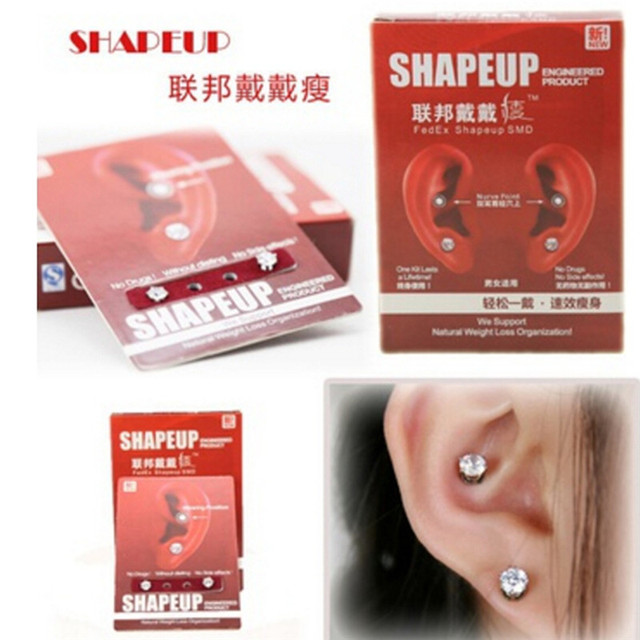 New 1 Pair Eyesight Bio Magnetic Therapy Weight Loss Earrings Magnet In Ear Slimming Healthy Stimulating