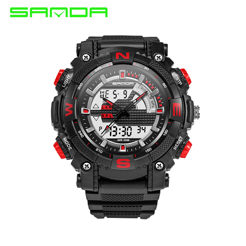 SANDA Military Sport Watch Chidren Luxury Famous Electronic LED Digital Wrist Watch For Men Male Clock Relogio Masculino