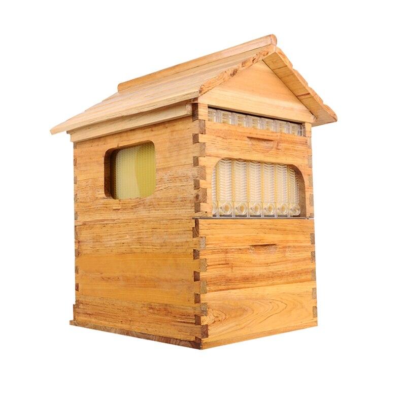 Flusso alveare libera la nave intelligente automatico alveare miele per il miele alveare di api a nido d'ape 7 cornici alveare colmena flusso hive cornici kit