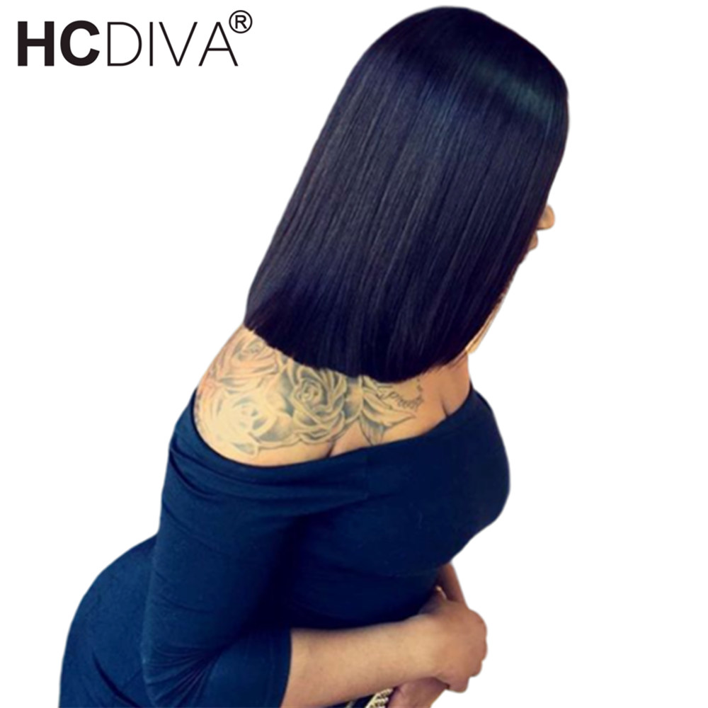 Bob Cut Short Lace Frontal Wig Ombre Colored Short Bob Lace Front Wigs With Dark Roots