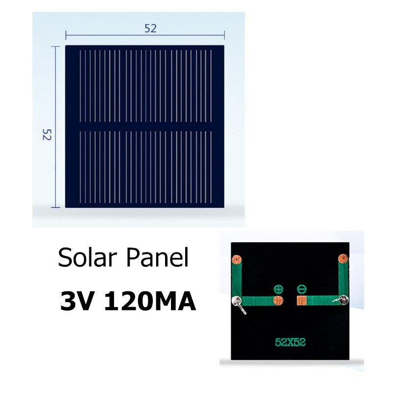 Polycrystalline Silicon Solar Panel 3V 120MA for DIY Toy/Solar Lawn Light Sensor Lights