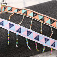PanlongHome 10 Yards National Style Pearl Tassel Lace Clothing Accessories Clothing Collar Cuff Luggage Decoration