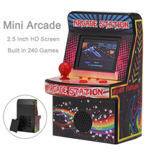 Portable Retro Mini Arcade Handheld Game Console 8 Bit 2.5 inch LCD Color Screen Game Arcade Built in 240 Classic Games For Kids