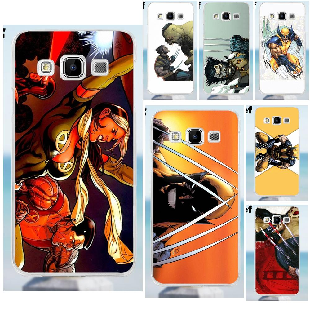 Suef Wolverine Comics For Galaxy Alpha Core Prime Note 2 3 4 5 S3 S4 S5 S6 S7 S8 mini edge Plus TPU Capa Cover image