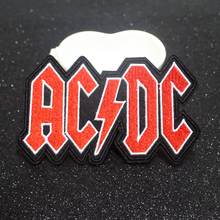 Pulaqi Hippie Letter Patches Rock Band Patch Iron On Embroidered For Clothes Stripes Logo Badge Sticker Applique