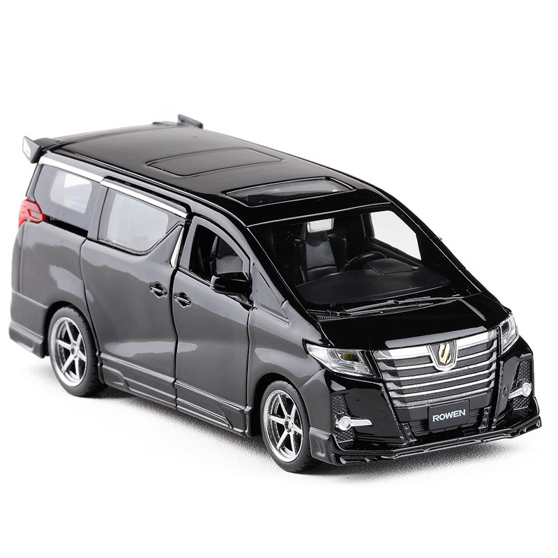 Exquisite Gift 1:32 Hong Kong Alphard Car Alloy Model,simulation Die-cast Sound And Light Back Force SUV Model,free Shipping
