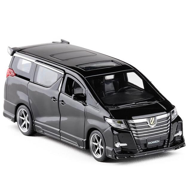 Squisito regalo 1:32 Hong Kong alphard modello di auto in lega, simulazione die cast suono e luce posteriore forza SUV modello, trasporto libero