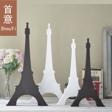 Paris Eiffel Tower ornaments large wooden home accessories crafts Northern Europe retro style photo studio model room decoration