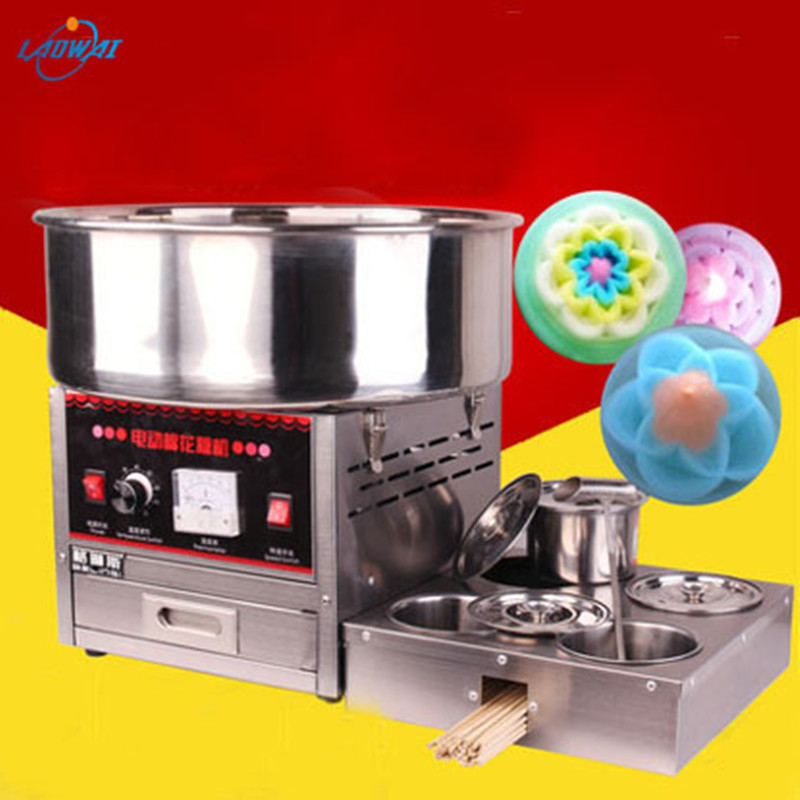 Electric Cotton Candy Machine Marshmallow Cotton Candy M aker Cotton Candy Rolling Machine