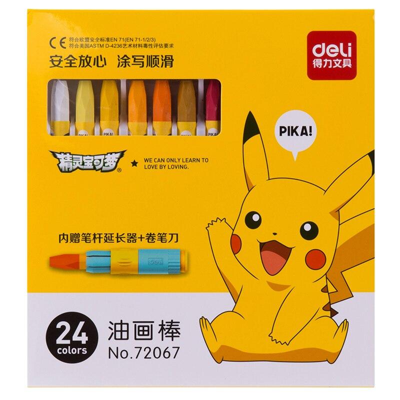 10 Set 24 36 Couleurs Crayon Mignon Pokemon Pikachu Pastel