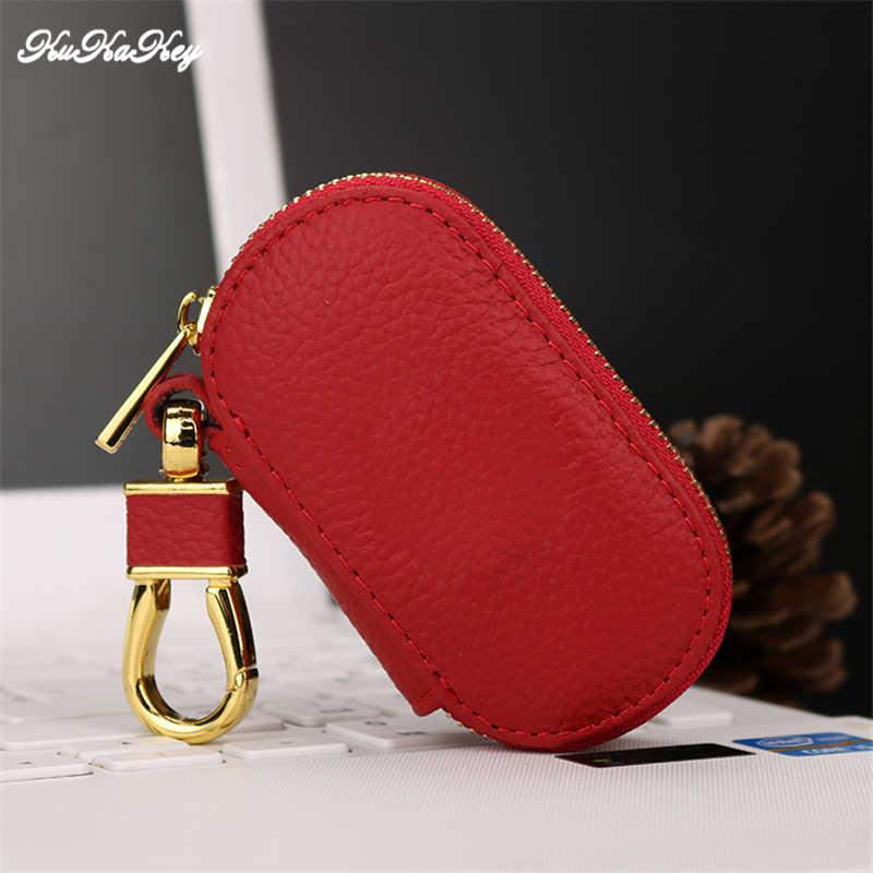 โลโก้รถ Key กระเป๋ากระเป๋าสตางค์สำหรับ Ferrari ผู้ชายผู้หญิงสีดำแม่บ้าน Organizer กรณีครอบคลุมกระเป๋าซิป