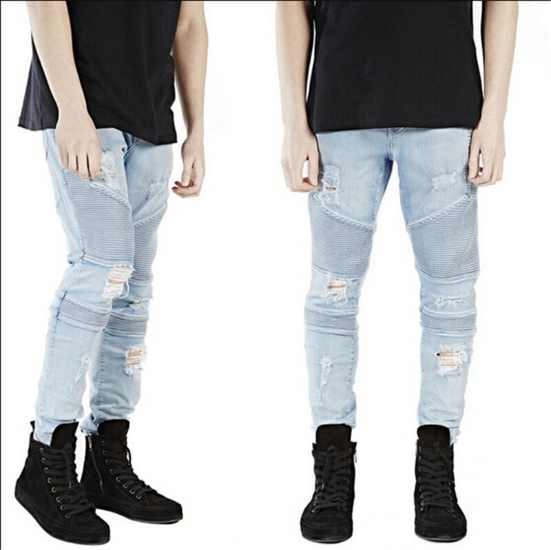 Guys Ripped Skinny Jeans | Bbg Clothing