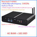 Windows mais baratos haswell i7 mini-itx PCs 12 V Intel Core i7 4500U 1.8 Ghz 4 USB 3.0 HDMI 4 G RAM 32 G SSD Windows ou Linux