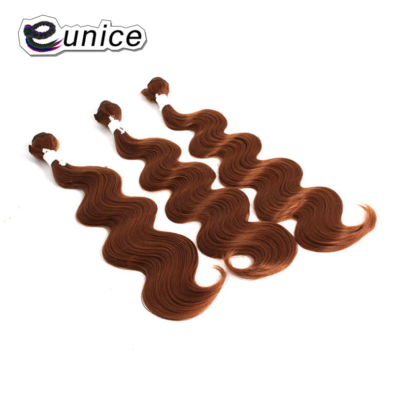 Brazilian Hair Body Wave with Closure synthetic hair bundles   (8)