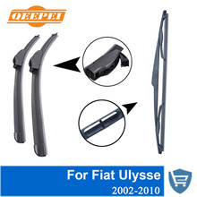 QEEPEI Front and Rear Wiper Blade no Arm For Fiat Ulysse 2002-2010 High quality Natural Rubber windscreen 26''+26''