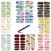 10pcs Set Water Transfer Foil Nails Sticker Rainbow Butterfly Design Nails Art Manicure Styling Water Film
