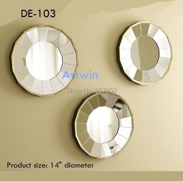 De 103 Mirrored Wall Stick Mirror Decorative Small In Set