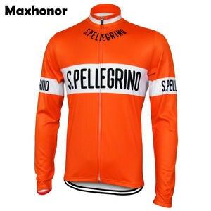 e667d41d0 men cycling jersey orange long sleeve pro team bike wear