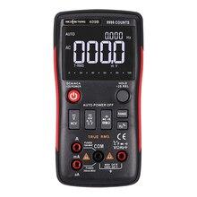 Rm409b/rm408b true rms multímetro digital botão 9999/8000 contagens com gráfico de barras analógico ac/dc tensão amperímetro corrente ohm automático