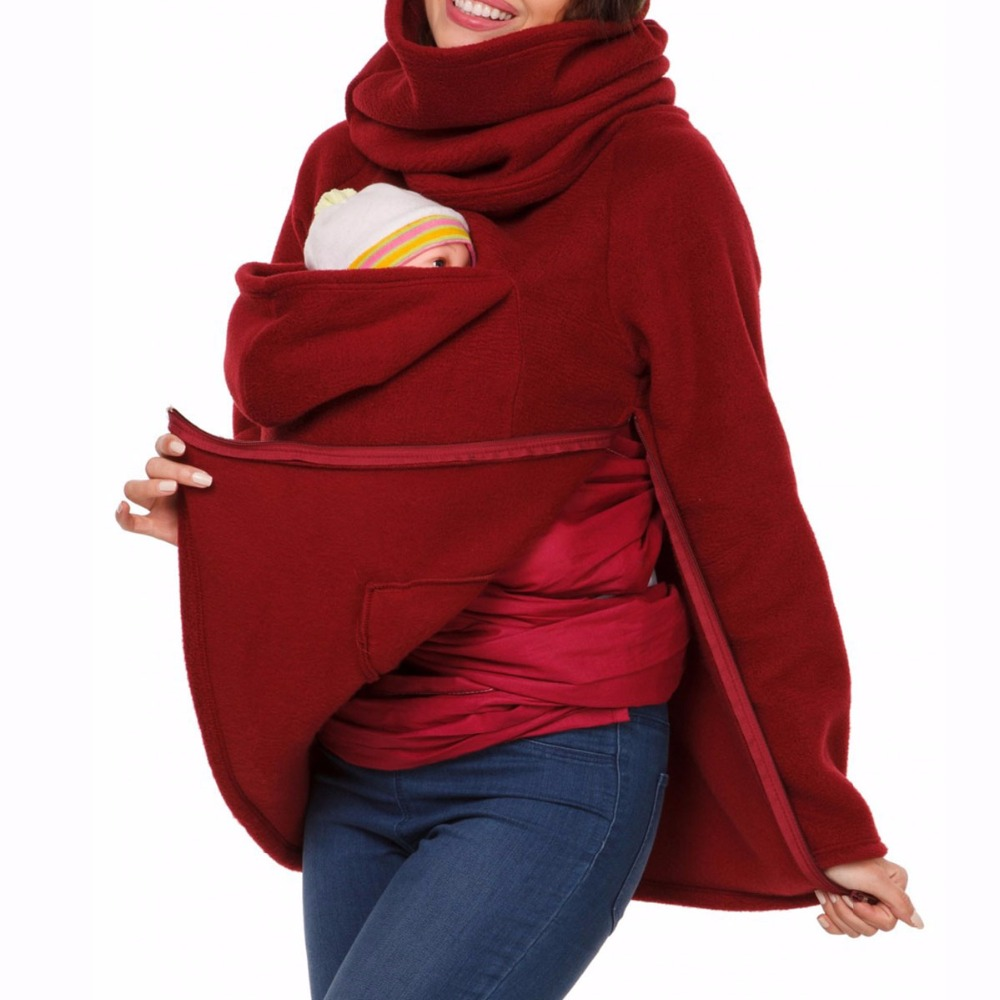 parenting mother autumn and winter three feature sweater solid jacket maternity women pullover multi functional hoodies coats