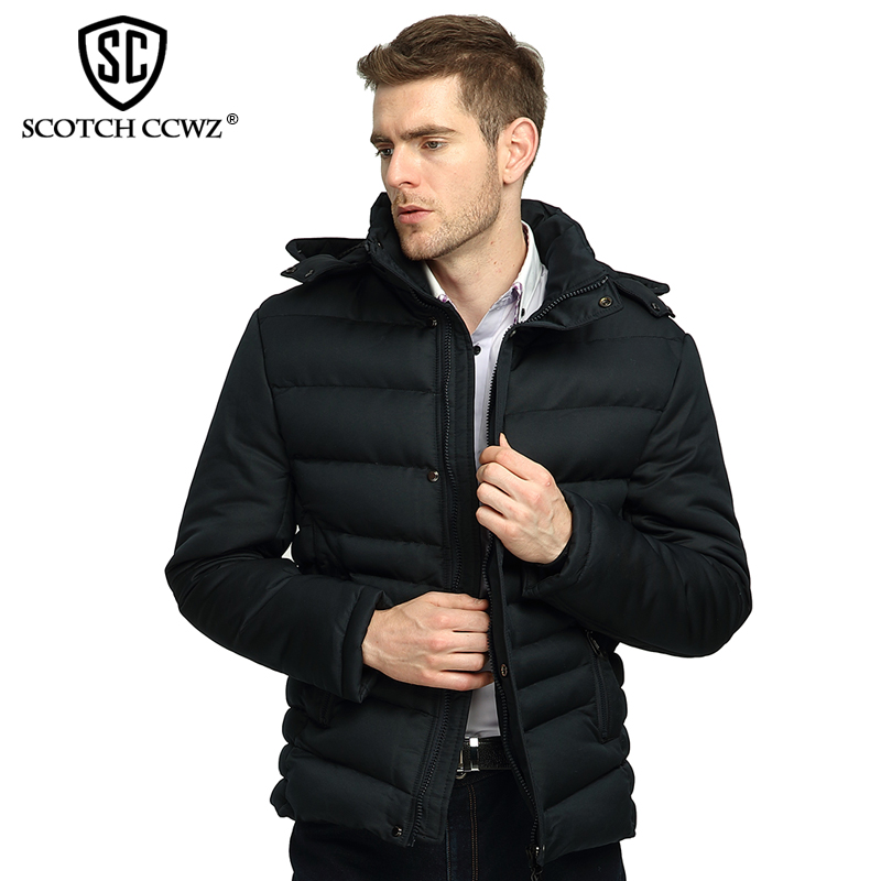 SCOTCH CCWZ Brand RU/EU size Winter Jacket Men Parkas Casual Thick Warm Outerwear New Fashion Jackets And Coats Clothing 222 free shipping winter parkas men jacket new 2017 thick warm loose brand original male plus size m 5xl coats 80hfx