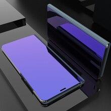 Ayna flip standı kılıfı için Xiaomi Redmi 6 6A 6 Pro 4A 4X5 artı S2 Y1 Lite akıllı temizle görünüm kapak Redmi için not 3 4 4X 5A 5 Pro