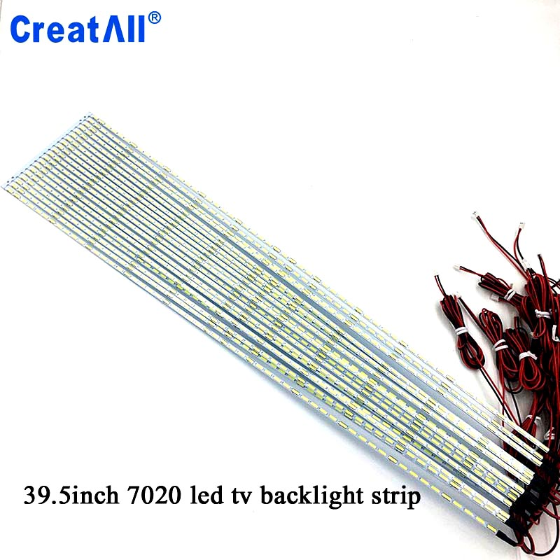 2pcs/lot 39.5'' Inch 7020 LED Edge Strip Aluminum Plate Strip Backlight Lamps Led TV Backlight Strip 445mm
